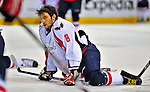 13 December 2008: Washington Capitals' left wing forward Alex Ovechkin from Russia warms up prior to facing the Montreal Canadiens at the Bell Centre in Montreal, Quebec, Canada. ***** Editorial Sales Only ***** Mandatory Photo Credit: Ed Wolfstein Photo