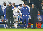 Jose Mourinho manager of Chelsea looks away as Eden Hazard of Chelsea comes off injured - English Premier League - Leicester City vs Chelsea - King Power Stadium - Leicester - England - 14th December 2015 - Picture Simon Bellis/Sportimage