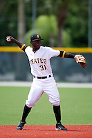 GCL Pirates Dilson Herrera #31 during a Gulf Coast League game against the GCL Phillies at Pirate City on July 18, 2012 in Bradenton, Florida.  GCL Pirates defeated the GCL Phillies 6-3.  (Mike Janes/Four Seam Images)