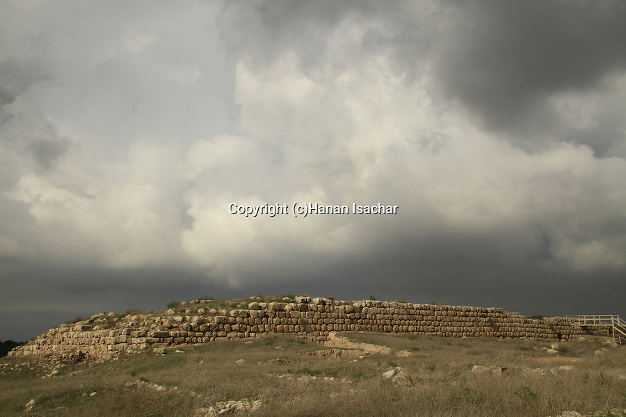 Israel, Shephelah,Tel Lachish, the site of the biblical Lachish, the Israelite palace