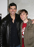 """Actor Joe Barbara (Captain Joe Carlino - Another World and Paolo Caselli - All My Children) stars with Adam Hose (R) in the musical """"I Come For Love"""" as Scoop as a part of the New York Musical Theatre Festival at the Chernuchin Theatre, NYC, NY. (Photo by Sue Coflin/Max Photos)"""
