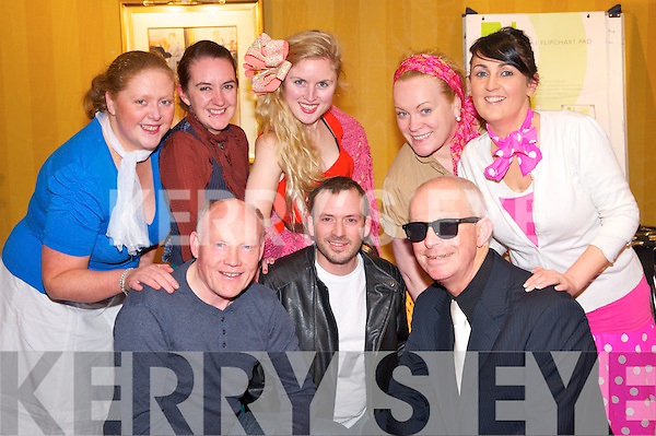 "Paul O'Sullivan, Nick Power, Mike Moloney, Diane O'Sullivan, Denise O'Doherty, Andrea Thornthon, Niamh Burns and Maria Slattery at the Killarney Musical Societies rehearsals for their show "" Musical Extravaganza"" which will be held in the INEC Killarney from Monday to Wednesday."