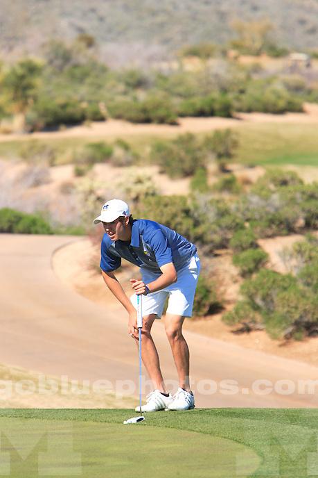 The University of Michigan men's golf team placed second in the 2015 Desert Mountain Intercollegiate. Scottsdale, AZ. March 7, 2015