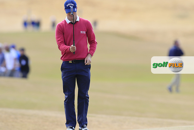 Alex NOREN (SWE) on the 5th green during Friday's Round 2 of the 2015 U.S. Open 115th National Championship held at Chambers Bay, Seattle, Washington, USA. 6/19/2015.<br /> Picture: Golffile | Eoin Clarke<br /> <br /> <br /> <br /> <br /> All photo usage must carry mandatory copyright credit (&copy; Golffile | Eoin Clarke)