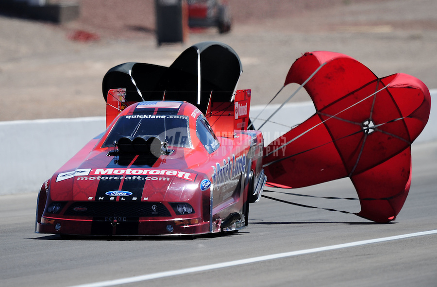 Apr. 13, 2008; Las Vegas, NV, USA: NHRA funny car driver Bob Tasca III during the SummitRacing.com Nationals at The Strip in Las Vegas. Mandatory Credit: Mark J. Rebilas-