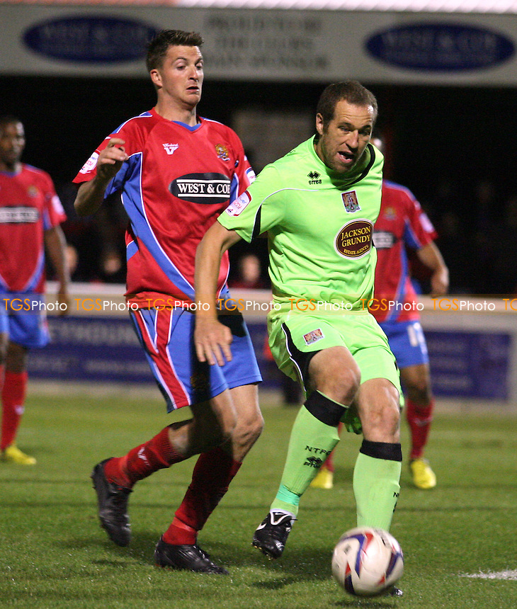 Michael Spillane of Dagenham - Dagenham vs Northampton at the London Borough of Barking and Dagenhami Stadium  - 18/09/12 - MANDATORY CREDIT: Dave Simpson/TGSPHOTO - Self billing applies where appropriate - 0845 094 6026 - contact@tgsphoto.co.uk - NO UNPAID USE.