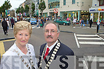 Mairead Fernane Deputy Mayor of Tralee and Seamus O'Donovan Chairman of Tralee Chamber of commerce in Tralee on Wednesday