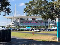 Hard Rock Stadium bei den Vorbereitungen auf den Super Bowl LIV am 2. Februar zwischen den Kansas City Chiefs und San Francisco 49ers - 22.01.2020: SB LIV im Hard Rock Stadium Miami