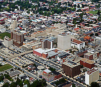 aerial photograph downtown Lexington, Kentucky