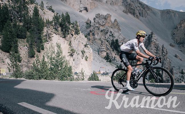 Mikel Landa (ESP/SKY) up the Col d'Izoard (HC/2360m/14.1km/7.3%)<br /> <br /> 104th Tour de France 2017<br /> Stage 18 - Briancon › Izoard (178km)