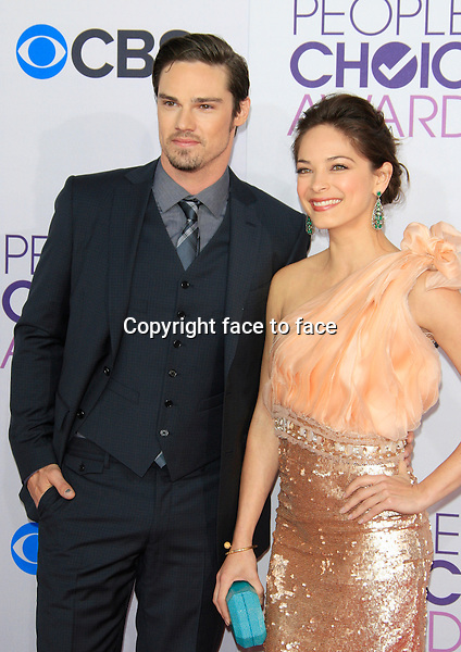 Jay Ryan; Kristin Kreuk attending the 34th Annual People's Choice Awards at the Nokia Theatre in Los Angeles, California, January 9, 2013...Credit: Martin Smith/face to face