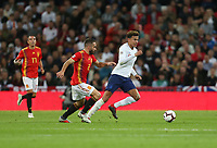 England's Dele Alli and Spain's Dani Carvajal<br /> <br /> Photographer Rob Newell/CameraSport<br /> <br /> UEFA Nations League - League A - Group 4 - England v Spain - Saturday September 8th 2018 - Wembley Stadium - London<br /> <br /> World Copyright &copy; 2018 CameraSport. All rights reserved. 43 Linden Ave. Countesthorpe. Leicester. England. LE8 5PG - Tel: +44 (0) 116 277 4147 - admin@camerasport.com - www.camerasport.com