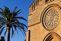 gotische Pfarrkirche Sant Jaume in Alcudia, Mallorca, Spanien