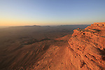 Israel, Negev, Sunrise in Ramon Crater