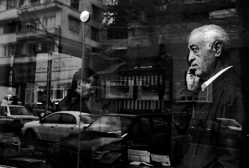 Teheran, Iran, March 25, 2007.Street scene, a shopowner.