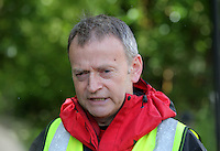Pictured: Andrew Evans of West Brecon Mountain Rescue Team gives a short press conference at Tafarn Y Garreg, Powys, Wales UK. Wednesday 29 June 2016<br />