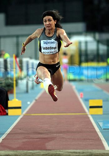 04.09.2012.  Rovereto, Italy.  Tatyana LEBEDEVA (RUS) in action during the European Meeting Athletics 2012 IAAF Palio della Quercia Meeting