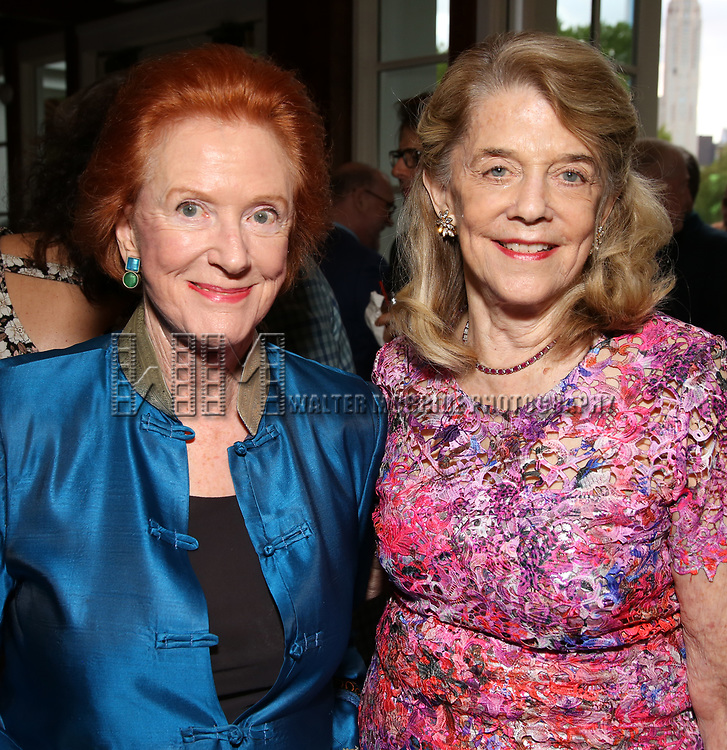 Edwina Sandys and Frances Hill attends the Urban Stages' 35th Anniversary celebrating Women in the Arts at the Central Park Boat House on May 15, 2019 in New York City.