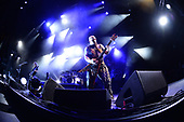 WEST PALM BEACH, FL - MAY 11: Gary Holt, Tom Araya, Paul Bostaph and Kerry King of Slayer perform at The Coral Sky Amphitheatre on May 11, 2019 in West Palm Beach Florida. Credit Larry Marano © 2019