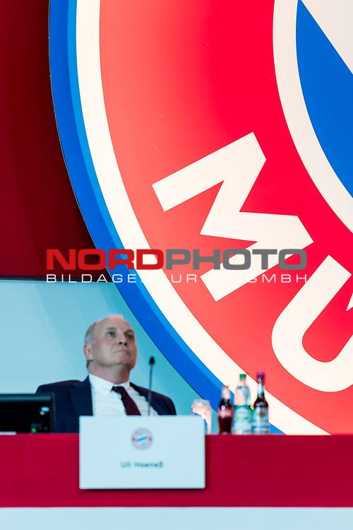 30.11.2018, Audi Dome, Muenchen, GER, FC Bayern Jahreshauptversammlung 2018, im Bild Uli Hoeness (Praesident FCB) <br /> <br /> Foto © nordphoto / Straubmeier
