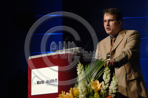 GENEVA - SWITZERLAND 13. 10. 2006 -- The World of Health IT. SESS 54 Keynote: Dr. R.S. von Bardeleben, Johannes Gutenberg Universität Dept. of Cardiology, Germany  -- PHOTO: GORM K. GAARE / EUP- IMAGES .