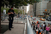 New  York, New York<br /> September 10, 2011<br /> <br /> Armed police near Ground Zero on the eve of the 10th anniversary of 9-11-2001.