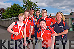 The conquering heroes back from The Munster Special Olympics Finals in cork, last weekend, at a welcoming reception at Cuman Iosaef on Monday  Liam Purcell, Bronze (Softball), Eoin O'Sullivan, Silver, (Softball), Christopher Courtney, Silver (Short Putt), Liam Martin, Coach, Maurice Moriarty, Gold (Short Putt), Silver (100 Meters), Hugh O'Brien, Bronze (50 Meter Run), Lorna O'Sullivan, Chaperone