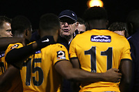 Maidstone's Head of Football, John Still, chats with the players on the pitch after the match during Maidstone United vs Torquay United, Emirates FA Cup Football at the Gallagher Stadium on 9th November 2019