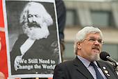 Paul Mackney, General Secretary of NATFHE, addresses a TUC May Day rally in Trafalgar Square, London.