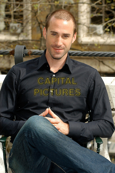 "JOSEPH FIENNES.Photocall for the film ""Goodbye Bafana"" at Hotel Majestic, Rome, Italy. .half length black shirt sitting .CAP/CAV.©Luca Cavallari/Capital Pictures"