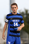 05 September 2015: Duke's Ryan Thompson. The Duke University Blue Devils hosted the Iona University Gaels at Koskinen Stadium in Durham, NC in a 2015 NCAA Division I Men's Soccer match. Duke won the game 2-1.