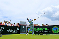 Dylan Frittelli (RSA) in action during the third round of the Afrasia Bank Mauritius Open played at Heritage Golf Club, Domaine Bel Ombre, Mauritius. 02/12/2017.<br /> Picture: Golffile | Phil Inglis<br /> <br /> <br /> All photo usage must carry mandatory copyright credit (&copy; Golffile | Phil Inglis)