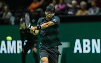 Rotterdam, The Netherlands, 11 Februari 2019, ABNAMRO World Tennis Tournament, Ahoy, first round singles: Hyeon Chung (KOR),<br /> Photo: www.tennisimages.com/Henk Koster