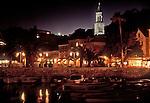 Croatia, Hvar, Hvar Island, Dalmatian Islands, historic Venetian harbor, architecture, yachts, Dalmatian coast, Adriatic Sea, Europe,.