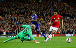 Marcus Rashford of Manchester United takes the ball around Ruben of Anderlecht during the UEFA Europa League Quarter Final 2nd Leg match at Old Trafford, Manchester. Picture date: April 20th, 2017. Pic credit should read: Matt McNulty/Sportimage