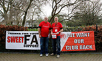 Representatives of the Orient Fans Trust seen prior to the Sky Bet League 2 match between Leyton Orient and Grimsby Town at the Matchroom Stadium, London, England on 11 March 2017. Photo by Carlton Myrie / PRiME Media Images.