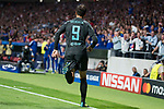 Chelsea's Alvaro Morata celebrating a goal during UEFA Champions League match between Atletico de Madrid and Chelsea at Wanda Metropolitano in Madrid, Spain September 27, 2017. (ALTERPHOTOS/Borja B.Hojas)