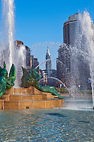 Philadelphia PA, skyline, reflections, View, Schuylkill, Expressway, USA