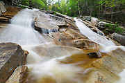 "The ""other"" Pitcher Falls in Lincoln, New Hampshire USA during the spring months. This waterfall is located on the South Fork of the Hancock Branch in the scenic White Mountains."