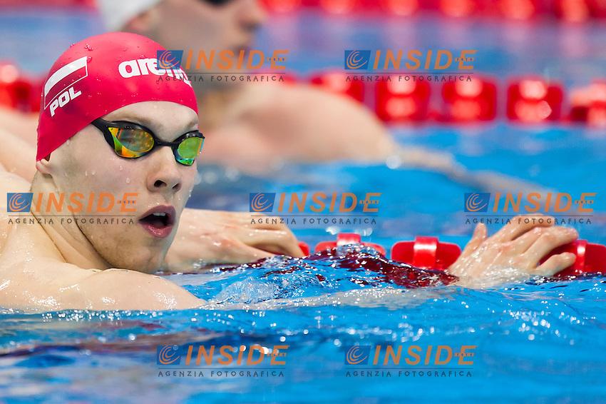 POLEWKA Tomasz POL<br /> London, Queen Elizabeth II Olympic Park Pool <br /> LEN 2016 European Aquatics Elite Championships <br /> Swimming<br /> Men's 50m backstroke preliminary  <br /> Day 10 18-05-2016<br /> Photo Giorgio Perottino/Deepbluemedia/Insidefoto