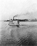 Lakewood NY:  City of Pittsburgh Ferry leaving the Kent House boat dock - Lakewood New York 1901. Photographs taken during a church field trip to Chautauqua Institution in New York (Lake Chautauqua). The Stewart family and friends visited Chautauqua during 1901 to hear Stewart relative, Dr. S.H. Clark  speak at the institute. Alice Brady Stewart chaperoned and Brady Stewart came along to photograph the trip.  The Gallery provides a glimpse of how the privileged and church faithful spent summers at Lake Chautauqua at the turn of the century.