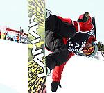 2011 FIS Snowboard World Cup  Championships , halfpipe qualification men's, La Molina. Picture show Dolf Wal Van Der.  NED FIS SNOWBOARD WORLD CHAMPIONS LA MOLINA