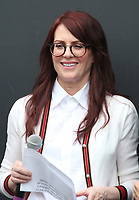 UNIVERSAL CITY, CA - AUGUST 2: Megan Mullally at the Will & Grace Start Of Production Kick-Off Event at Universal City Plaza, California on August 2, 2017. Credit: Faye Sadou/MediaPunch