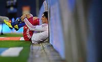 FUSSBALL   1. BUNDESLIGA   SAISON 2011/2012    11. SPIELTAG Hamburger SV - 1. FC Kaiserslautern                          30.10.2011 Paolo GUERRERO (Hamburg) enttaeuscht