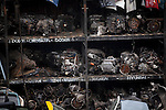 QUEENS, NY -- OCTOBER 22, 2013:  Car engines at ACDC Scrap Metal Inc. in Willets Point on October 22, 2013 in Queens.  Photographer: Michael Nagle for The New York Times