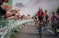 Jasper de Buyst (BEL/Lotto-Soudal) in the grupetto up the last climb of the 2018 Tour: the Col d'Aubisque (HC/1709m/16.6km@4.9%)<br /> <br /> Stage 19: Lourdes &gt; Laruns (200km)<br /> <br /> 105th Tour de France 2018<br /> &copy;kramon