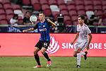 FC Internazionale Forward Ivan Perisic (L) plays against Bayern Munich Forward Milos Pantovic (R) during the International Champions Cup match between FC Bayern and FC Internazionale at National Stadium on July 27, 2017 in Singapore. Photo by Marcio Rodrigo Machado / Power Sport Images