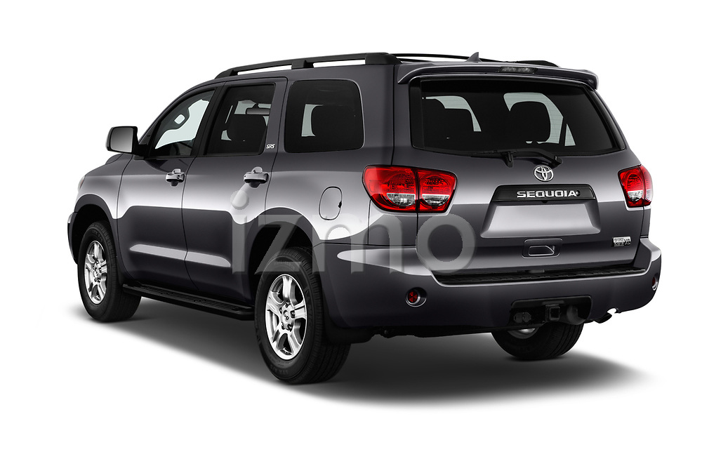 Car pictures of rear three quarter view of a 2014 Toyota Sequoia SR5 5 Door SUV angular rear