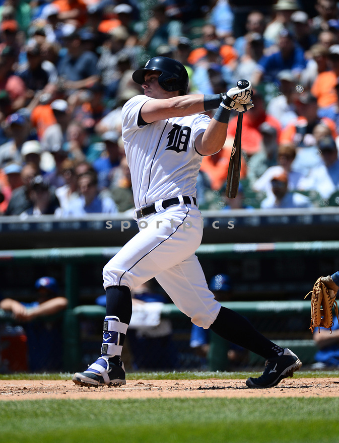 Detroit Tigers James McCann (34) during a game against the Toronto Blue Jays on June 8, 2016 at Comerica Park in Detroit MI. The Blue Jays beat the Tigers 7-2.