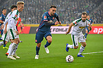 04.11.2018, Borussia Park , Moenchengladbach, GER, 1. FBL,  Borussia Moenchengladbach vs. Fortuna Duesseldorf,<br />  <br /> DFL regulations prohibit any use of photographs as image sequences and/or quasi-video<br /> <br /> im Bild / picture shows: <br /> Kenan Karaman (Fortuna Duesseldorf #11),   im Zweikampf gegen Tony Jantschke (Gladbach #24),    <br /> <br /> Foto &copy; nordphoto / Meuter